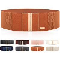 "Women's Elastic Stretch Wide Belt Retro Dress Belt Waist Cinch Belt 3"" width By MIJIU"