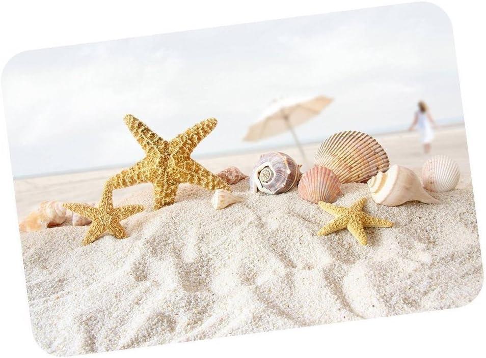 Cloud Dream Fantastic Doormat Seashells Starfish Beach Sand Door Mat Rug Indoor/Outdoor/Front Door/Bathroom¬Bedroom Doormat 23.6