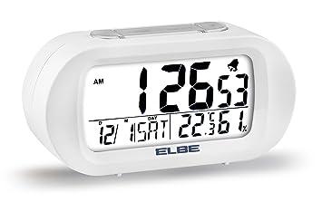 """Elbe RD-009 - Reloj Despertador de Viaje, Pantalla de 3.1"""", Temperatura"""