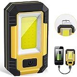 LED投光器,NIANPU LED作業灯COB 充電式 投光器 磁石とUSBポート付 防水 夜間作業 アウトドア 30W