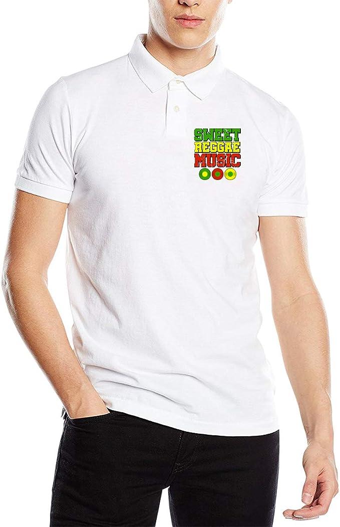 Xqf359 Sweet Reggae Music Rasta Colors Vinyls Mens Polo Shirts ...