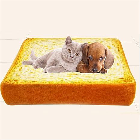 Creativo tostada Pan de molde Perro Cama Gato Sofá - 3 tamaños por Pequeña Medio Mascota