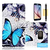 S6 Edge Case, Galaxy S6 Edge Case, Tradekmk(TM) Fashion Slim PU Leather Stand Wallet Protector Case Cover[Special Printed Pattern] For Samsung Galaxy S6 Edge [+Stylus+Screen Protector+Cleaning Cloth]-(Series:R-10)