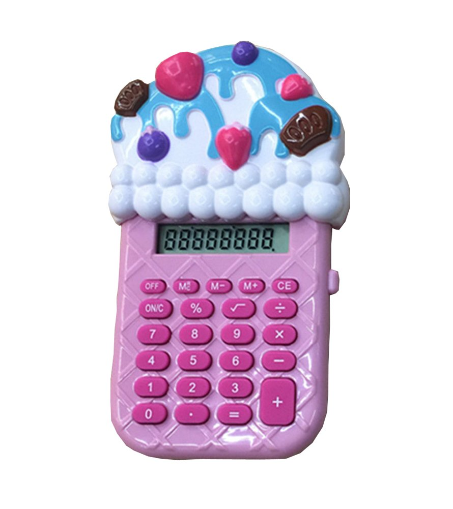 Calcolatrice Little Cartoon Ice Cream Cute Mini Calculator-F1 Black Temptation