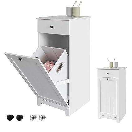 SoBuy® BZR21-W Meuble Bas de Salle de Bain Armoire Toilette ...