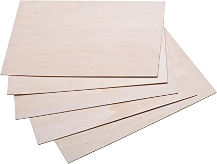 Amazon Com 5pcs 1 16 12 8 Basswood Sheet Unfinished Plywood Craft Basswood Sheet For Cricut Maker