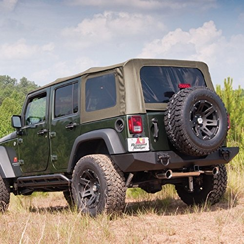 (Rugged Ridge (13741.46) Khaki Diamond XHD Soft Top with Spring)