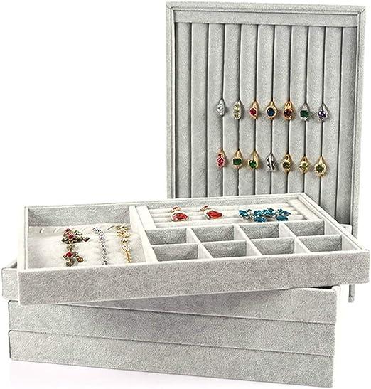 Organizador de joyas, bandejas de terciopelo para joyas, soporte ...