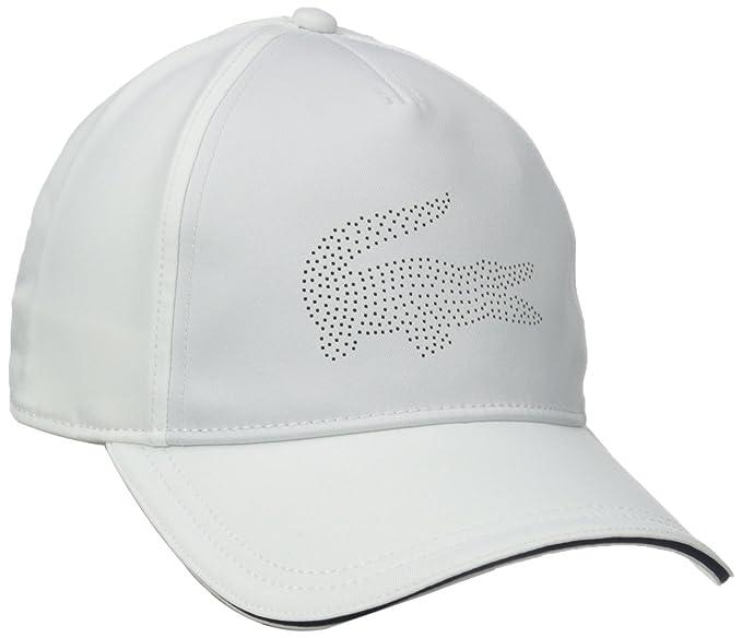 Lacoste - Gorra de Golf de Deporte Gabardina Hombre con Verde cocodrilo - Blanco -: Amazon.es: Ropa y accesorios