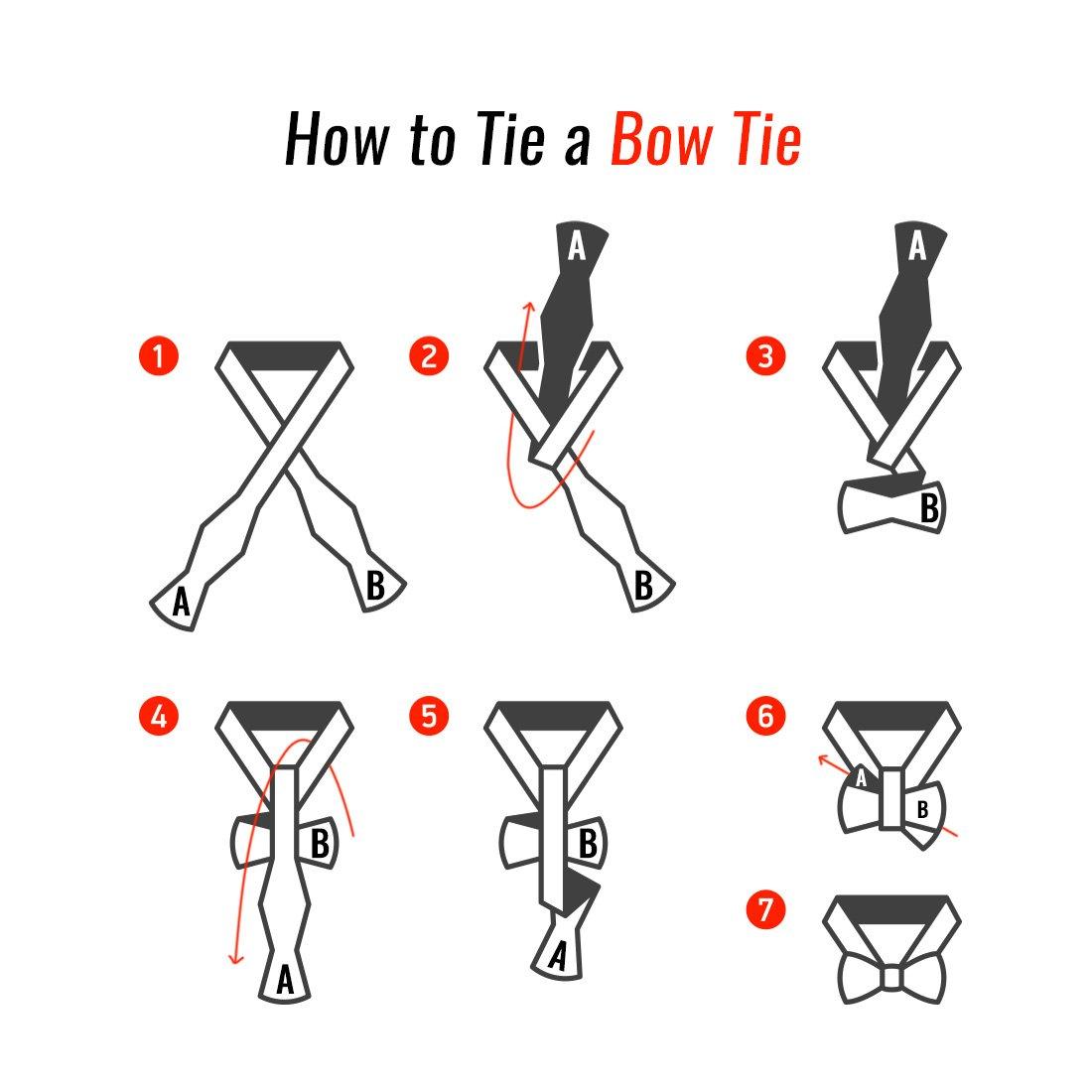 Set 4 BMC Mens Mens Mens 3pc Reversible Mixed Design Self Tied Adjustable Flat Tip Style Bow Ties - Set 4 df27f5