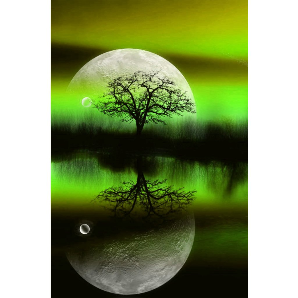 Dabixx 5D DIY Full Diamond Painting, Moon Tree 1 # 25 cmx35 cm/9.84inx13.78in, Moon Tree 1#, 25cmx35cm/9.84inx13.78in