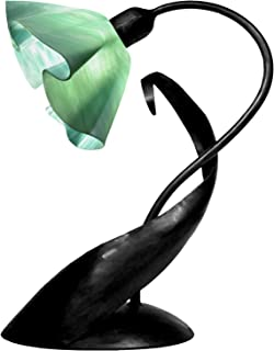 product image for Jezebel Radiance TLLD-B-LP14-SEA Lily Style Black Lazy Daisy Lamp, Seafoam Green