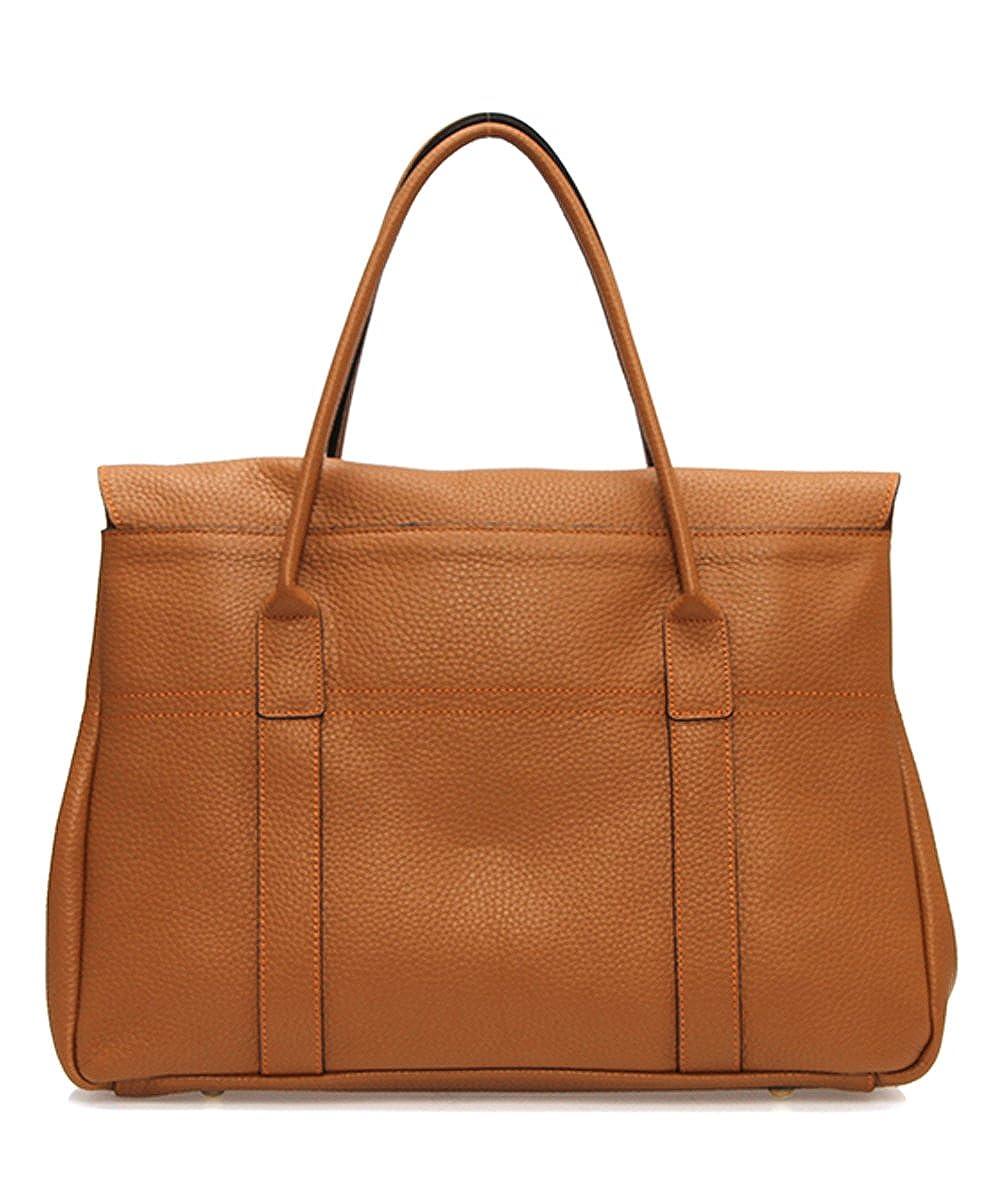 LUX BAYS TOTE BAG Genuine Leather Togo Calfskin Womens Korean Handbag