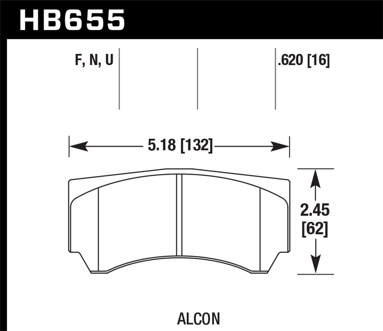 Hawk Performance HB655N.620 HP Plus Brake Pad