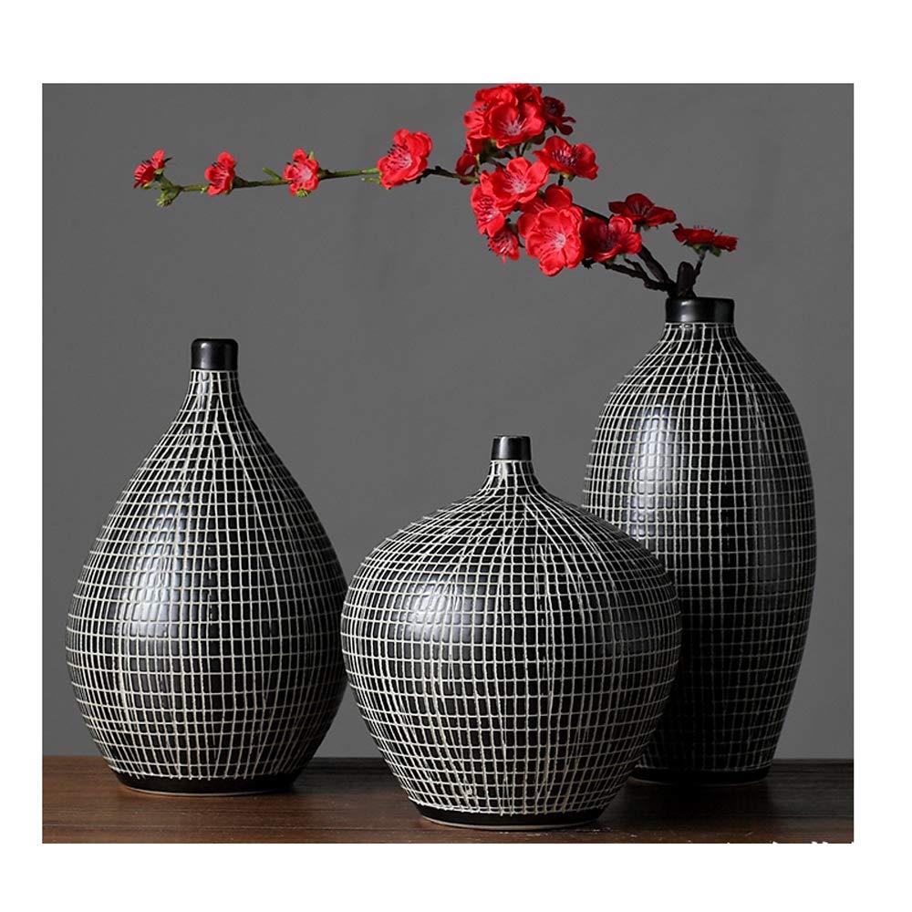 クリエイティブヴィンテージ花瓶、現代ヨーロッパセラミック装飾フラワーベース 装飾用リビングルーム寝室キッチン,F B07R2CCV1K  F