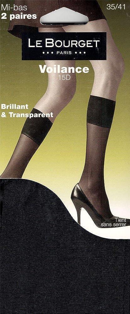 Le Bourget Lot 2 paires mi-bas VOILANCE 20D noir  Amazon.fr  Vêtements et  accessoires b64f6c46e3d
