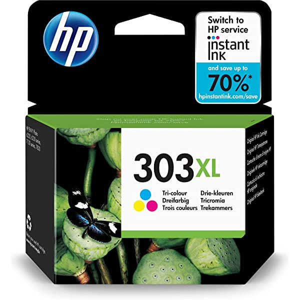 HP 303 x l Cartuchos originales Set Black + Color XL de relleno ...