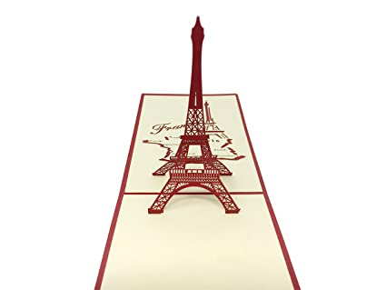 pop bunny eiffel tower 3d pop up greeting cards anniversary baby birthday mothers
