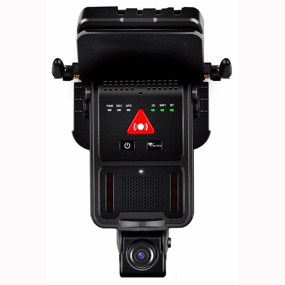 tracksec 3 G車デュアル1080pレンズダッシュカムレコーダー、2チャネル車DVR、内蔵マイクとスピーカー、サポートWiFi AP共有、アラームTrigging Recording andビデオアップロードby 3 G B07BK1JH4P