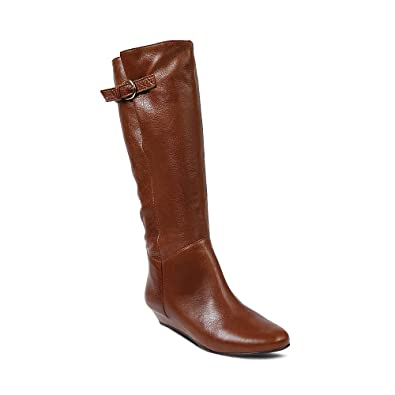 a6dd1c6f2d8 Steve Madden Women s Intyce Cognac Leather Boot Casual ...