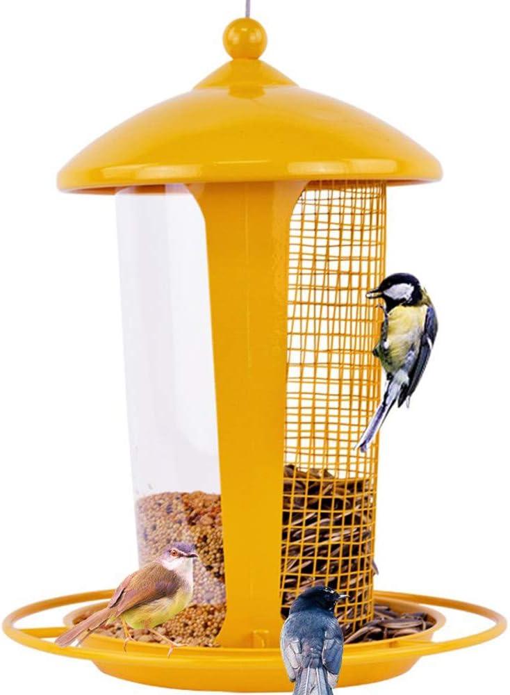 El Mejor Alimentador de Aves Silvestres para Decorar tu Casa o Jardín,Comedero para pájaros colibrí,Diseñado para todo Tipo de Semillas,Cacahuetes y Frutas Secas,Comedero Decorativo para Exterior