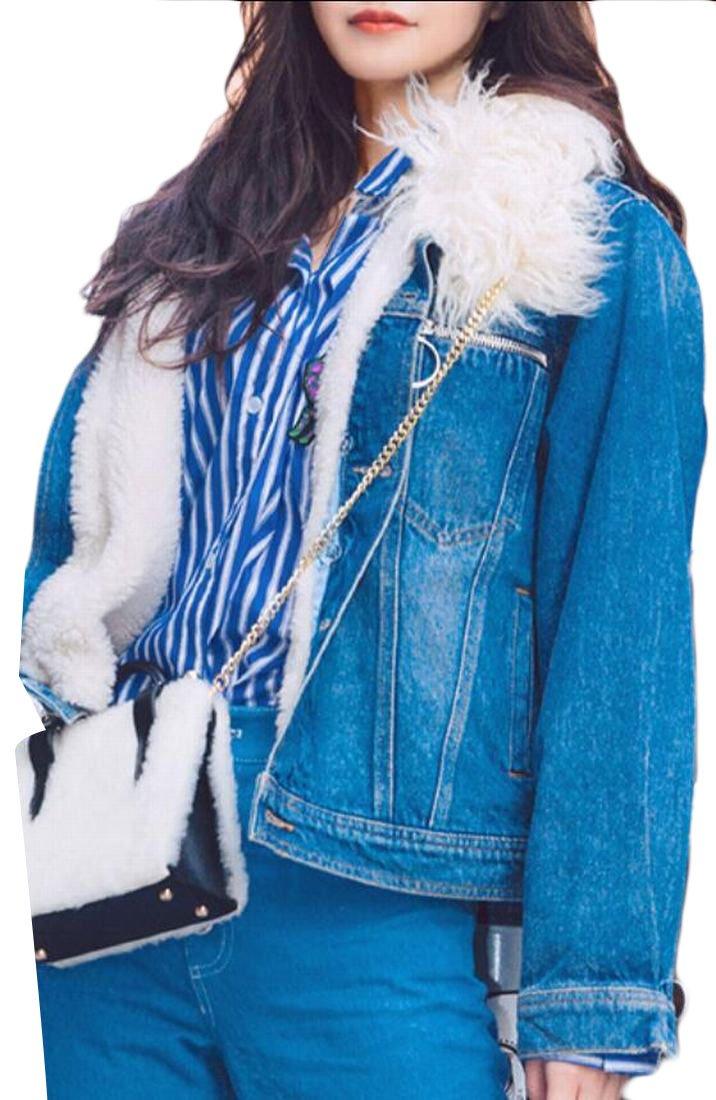 Qiangjinjiu Women's Fashion Thick Faux Fur Parka Coat Winter Jacket 1 XS