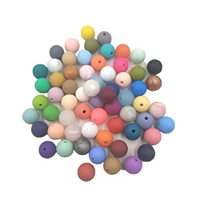 100pcs Silicone Beads 12mm Round Shaped Teether BPA Free Food Grade DIY Baby Teething Jewelry Necklace Nursing Accessories (Mix Color): Arts, Crafts & Sewing
