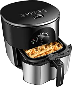Safeplus Air Fryer,3.5 Quart Electric Hot Air Fryers Oven Oilless Cooker for Roasting with Nonstick Basket ETL/UL Certified,1-Year Warranty,1300W