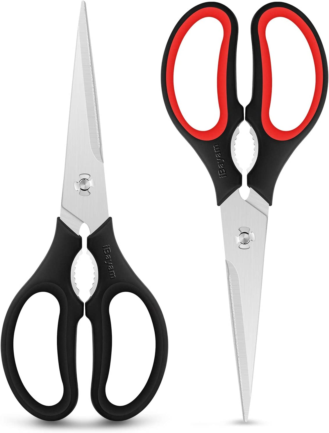Kitchen Scissors, Heavy Duty Kitchen Shears, 2-Pack 9 Inch Dishwasher Safe Come Apart Food Scissors, Multipurpose Stainless Steel Sharp Cooking Scissors for Chicken, Poultry, Fish, Meat, Herbs
