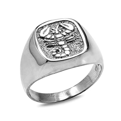 4c8ecd8f5019c Sterling Silver Scorpio Mens Zodiac Ring|Amazon.com