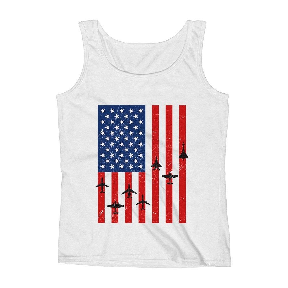 Mad Over Shirts National Aviation Unisex Premium Tank Top