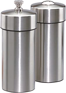 product image for Chef Specialties 5.5 Inch Futura Stainless Pepper Mill and Salt Shaker Set