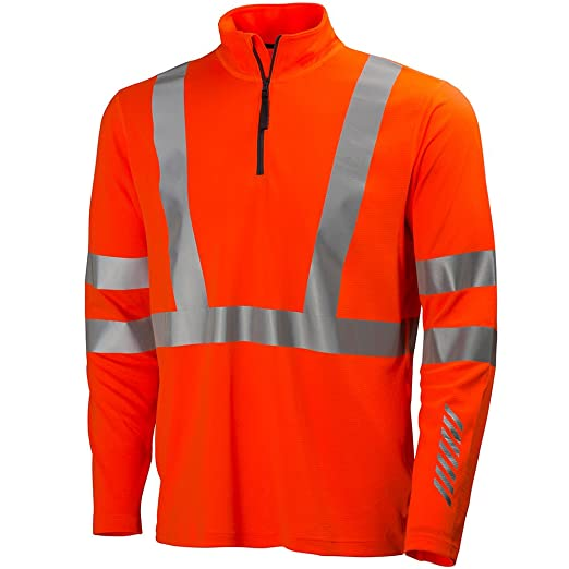 Helly Hansen Workwear Warnschutz Langarmshirt Esbjerg Polo Zip Longsleeve Shirt En471 M Orange 75019 Baumarkt