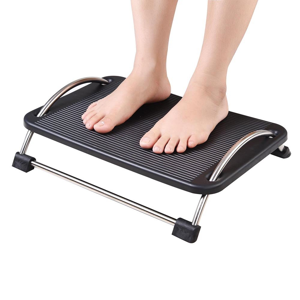 Office Adjustable Height Tilt Angles Foot Rest Massage Using Under Desk Or Table US Delivery