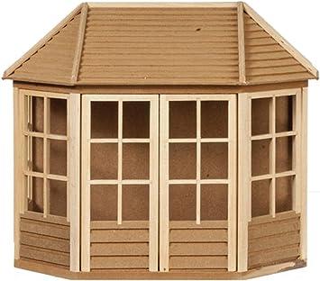 Amazon.es: Melody Jane Casa de Muñecas Verano Casa Cobertizo de Jardín Listo Built sin Terminar Madera 1:12 Escala: Juguetes y juegos