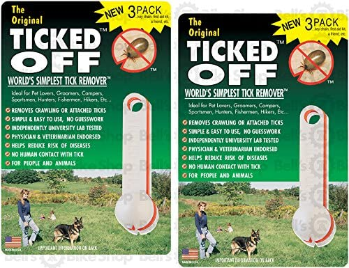 Ticked Off Original 3-Pack Tick Remover Assorted Colors For Safe /& Easy Removal