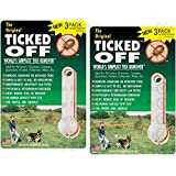 The Original Ticked Off Tick Remover 2 packs of 3 each with Key Hole family Colors May Vary. 6 Total removers included