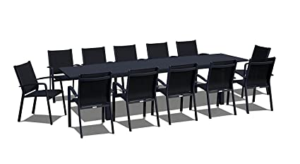 Amazon.com: UrbanFurnishing.net - 13 Piece Extendable Modern Outdoor ...