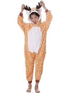UMIPUBO Pijama Animal Niña Unisexo Cosplay Traje Disfraz Niña Animal Pijamas Onesies Ropa de Dormir Halloween