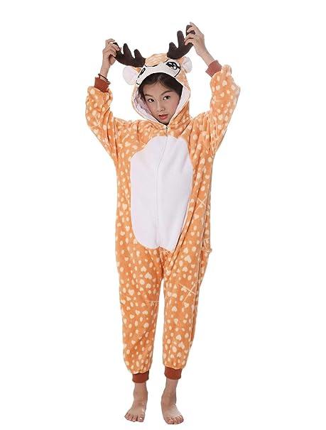 UMIPUBO Kigurumi Pijama Animal Niña Unisexo Cosplay Traje Disfraz Niña Animal Pijamas Onesies Ropa de Dormir