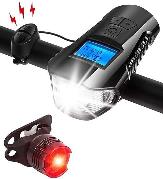 gao Lámpara De Carga USB para Bicicleta Inteligente con Medidor De ...
