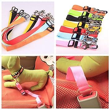 Azul 2.5cm LAAT Arn/és de Perros para Coche Nylon Cintur/ón de Seguridad Ajustable de Coche para Perros y Mascotas Size 70