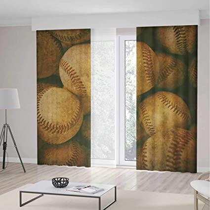 IPrint Window CurtainsVintageHome Decorations For Bedroom Kids Room Vintage Baseball Backgorund