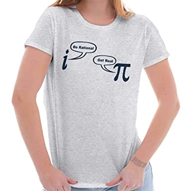 8ae28fa99 Rational Real Pi Pie Number Math Nerd Geeky Ladies T Shirt at Amazon ...