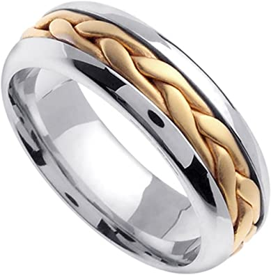 FB Jewels 14K Yellow Gold Twisted Rope Wedding Ring Band Size 6