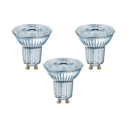 Osram 818415 Bombilla LED GU10, 4.3 W, Blanco, 3 Unidades