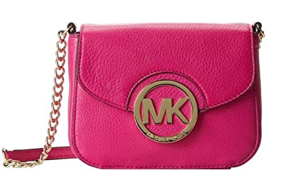 f341185785609 Image Unavailable. Image not available for. Color  Michael Kors Fulton  Small Crossbody Deep Pink