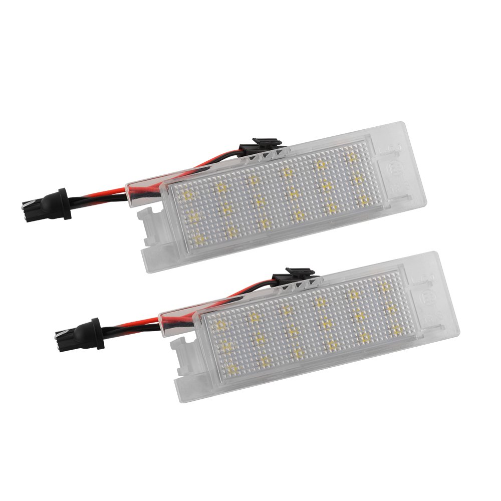 Xcsource 2pcs 18smd Led Number License Plate Light Vauxhall Can Bus Wiring Canbus Error Free For Opel Corsa C D E Astra H J Insignia Meriva A B Vectra Zafira