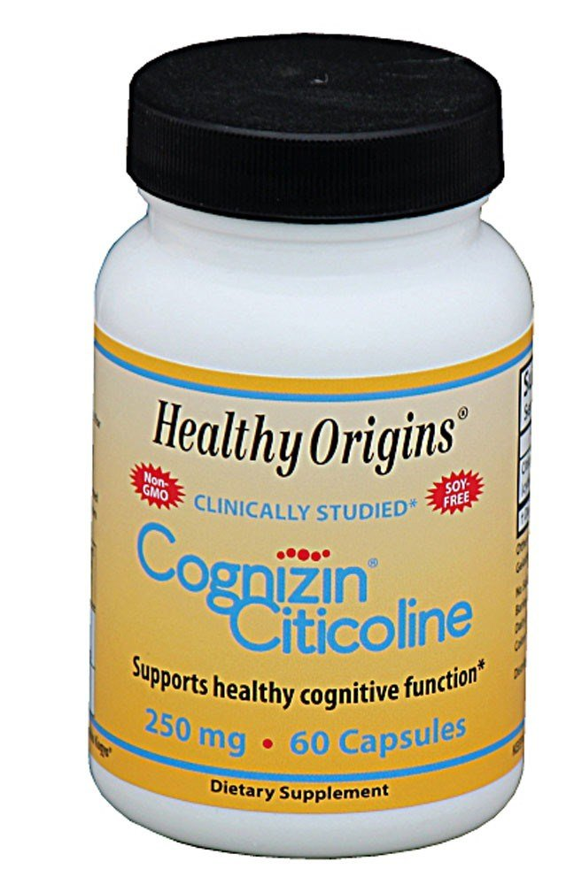Healthy Origins, Cognizin Citicoline, 250 mg, 60 Capsules DOUBLE PACK