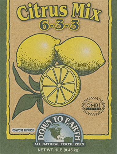 Earth Mix - Down To Earth 17863 6-3-3 Citrus Fertilizer Mix, 1 lb